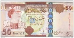 LIBYA 50 DINARS 2008 2009 P-75 GADDAFI UNC */* - Libye