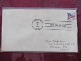 USA 1992 FDC Cover Rome - Flag (booklet) 29c - Etats-Unis