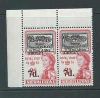 "Sierra Leone 1963 Postal Anniversary 7d  "" Missing Period After O "" Variety MNH - Sierra Leone (1961-...)"