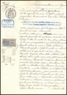 51335 Copies Dimension Y&t N°14 Seul Medaillon Tasset 1909 Vaucluse Malaucene Timbre Fiscal Fiscaux Sur Document - Marcophilie (Lettres)
