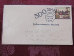 "USA 1992 Special ""Columbus, WI"" Cover - Voyages Of Columbus - Ships - 500 Anniv. - Etats-Unis"
