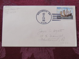 "USA 1992 Special ""Columbus, GA"" Cover - Voyages Of Columbus - Ships - Etats-Unis"