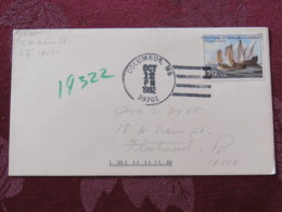 """USA 1992 Special """"Columbus, MS"""" Cover - Voyages Of Columbus - Ships - Etats-Unis"""