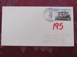 "USA 1992 Special ""Columbus, Arkansas"" Cover - Voyages Of Columbus - Ships - Etats-Unis"