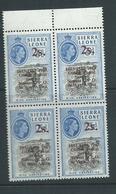 "Sierra Leone 1963 Postal Anniversary 2 Shilling  "" Forward Slash For Hyphen "" Variety MNH - Sierra Leone (1961-...)"