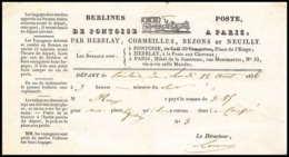51393 Berlines De Pontoise Diligence 1836 Bezons Neuilly Cormeilles Herblay Document - Marcophilie (Lettres)