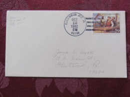 "USA 1992 Special ""Columbus JCT, IA"" Cover - Voyages Of Columbus - Ships - Etats-Unis"