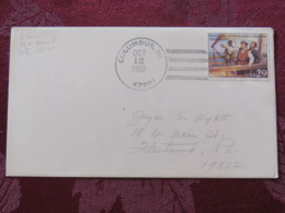 """USA 1992 Special """"Columbus, IN"""" Cover - Voyages Of Columbus - Ships - Etats-Unis"""