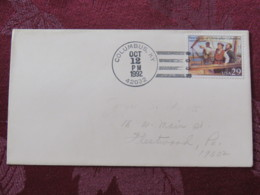"""USA 1992 Special """"Columbus, KY"""" Cover - Voyages Of Columbus - Ships - Etats-Unis"""