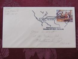 "USA 1992 Special ""Columbus, MT"" Cover - Voyages Of Columbus - Ships - Map - Etats-Unis"