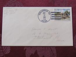 "USA 1992 Special ""Columbus, KS"" Cover - Voyages Of Columbus - Ships - Etats-Unis"