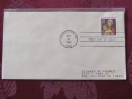 USA 1992 FDC Cover Washington - Christmas - Virgin And Child By Bellini - Etats-Unis