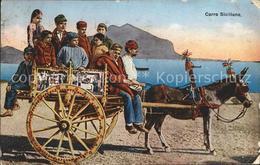 11734298 Esel Tiere Carro Siciliano Asino Trachten Sizilien  Esel Tiere - Unclassified