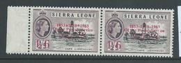 "Sierra Leone 1963 Postal Anniversary 1/6  "" Asterisk For Hyphen "" Variety MLH - Sierra Leone (1961-...)"