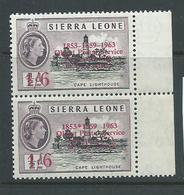 "Sierra Leone 1963 Postal Anniversary 1/6  "" Asterisk For Hyphen ""  & "" Missing Hyphen "" Varieties MNH - Sierra Leone (1961-...)"