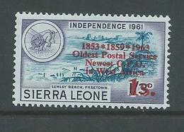 "Sierra Leone 1963 Postal Anniversary 1 Shilling  "" Asterisk For Hyphen ""  Variety MNH - Sierra Leone (1961-...)"