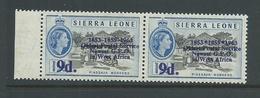 "Sierra Leone 1963 Postal Anniversary 9d  "" Asterisk For Hyphen ""  Variety MNH - Sierra Leone (1961-...)"