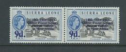 "Sierra Leone 1963 Postal Anniversary 9d  "" Missing Period After O ""  Variety MNH - Sierra Leone (1961-...)"