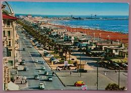 VIAREGGIO - Viali Lungomare E Spiaggia - Auto, Cars, Insegna Fiat, 600 Multipla - Vg T2 - Viareggio