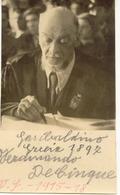 De Cinque Garibaldino Politico D'Annunzio Casoli Chieti (351) - Personaggi Storici