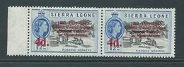 "Sierra Leone 1963 Postal Anniversary 4d  "" Missing Period After O ""  Variety MLH - Sierra Leone (1961-...)"