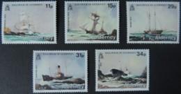 ALDERNEY 1987 SHIPWRECKS SET OF 5 VALUES MNH A28-A31 SHIPS DISASTERS - Alderney