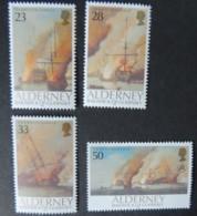 ALDERNEY 1992 BATTLE OF LA HOGUE SET OF 5 VALUES MNH A52-A55 WARSHIPS BATTLES HISTORY - Alderney