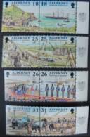 ALDERNEY 1997 GARRISON ISLAND 1st SERIES 8 VALUES MNH A102-A109 SHIPS MILITARIA RAILWAYS CONSTRUCTION - Alderney