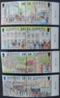ALDERNEY 1998 GARRISON ISLAND 2nd SERIES 8 VALUES MNH A116-A123 MILITARIA POSTAL - Alderney