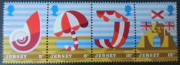 JERSEY 1975 TOURISM SET OF 4 VALUES MNH SG124-127 CASTLE DECK CHAIR SHELL PARASOL UMBRELLA - Jersey