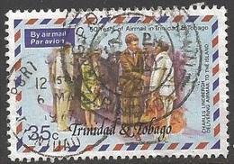 1977 25 Cents Lindbergh, Air Mail, Used - Trinidad & Tobago (1962-...)