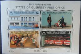 GUERNSEY 1979 POSTAL ADMINISTRATION MINIATURE SHEET 4 VALUES MNH MS130 - Guernsey