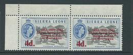 "Sierra Leone 1963 Postal Anniversary 4d  "" 1895 For 1859 "" Variety MNH - Sierra Leone (1961-...)"