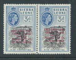 "Sierra Leone 1963 Postal Anniversary 3d  "" 1895 For 1859 "" Variety MLH - Sierra Leone (1961-...)"