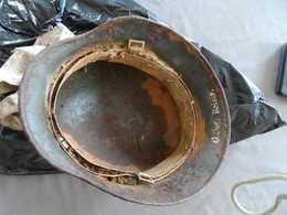 CASQUE ALLEMAND DE FOUILLE WW2 - Copricapi