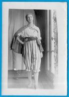 PHOTO Photographie Jeune Femme En Tenue De Corsaire * Mode Costume Déguisement - Personnes Anonymes