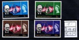 Montserrat, 1966, SG 179 - 182, Mint Hinged - Montserrat