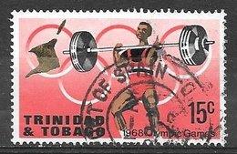 1968 15 Cents Olympics, Used - Trinidad & Tobago (1962-...)