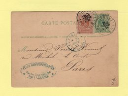 Belgique - Bruxelles Destination France - 1861 - Entree Paris Etranger - Belgium