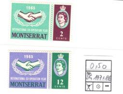Montserrat, 1965, SG 177 - 178, Mint Hinged - Montserrat