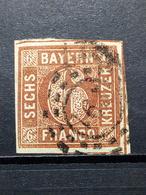 Altedeutschland Bayern Mi-Nr. 4 Ll Gestempelt - Bayern