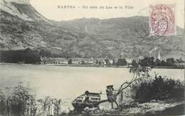 """CPA FRANCE 01 """"Nantua, Un Coin Du Lac Et La Ville"""" - Nantua"""
