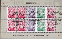 Australia 2014 George V Letterpress Sheet CTO - 2010-... Elizabeth II