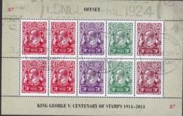Australia 2014 George V Offset Sheet CTO - 2010-... Elizabeth II