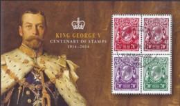 Australia 2014 George V Anniverary CTO Sheet - 2010-... Elizabeth II