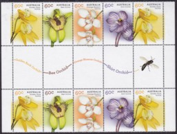 Australia 2014 Orchids Mint Never Hinged Gutter - 2010-... Elizabeth II