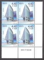 Estonia 2006 MNH Stamp Corner Block Of 4 KUMU, Estonian Art Museum Mi # 544 - Musées
