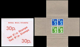 GREAT BRITAIN-Scotland 1977 Test Booklet 30p 2x6½p 2x8½p Inner:BEIGE Box Pack Carton - Emissions Régionales