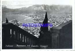 110822 ITALY PALERMO SICILIA PANORAMA OF CASTLE UTVEGGIO CIRCULATED TO ARGENTINA POSTAL POSTCARD - Italie