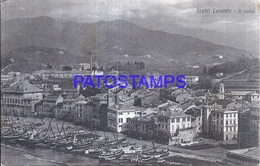 110820 ITALY SESTRI LEVANTE THE PORT VIEW PARTIAL CIRCULATED TO MILANO POSTAL POSTCARD - Italie